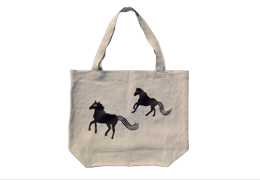 Linen Tote : Horse